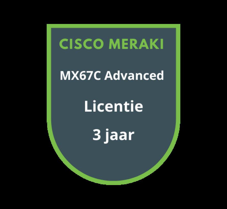 Cisco Meraki MX67C Advanced Security Licentie 3 jaar