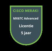 Cisco Meraki Cisco Meraki MX67C Advanced Security Licentie 5 jaar