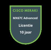 Cisco Meraki Cisco Meraki MX67C Advanced Security Licentie 10 jaar