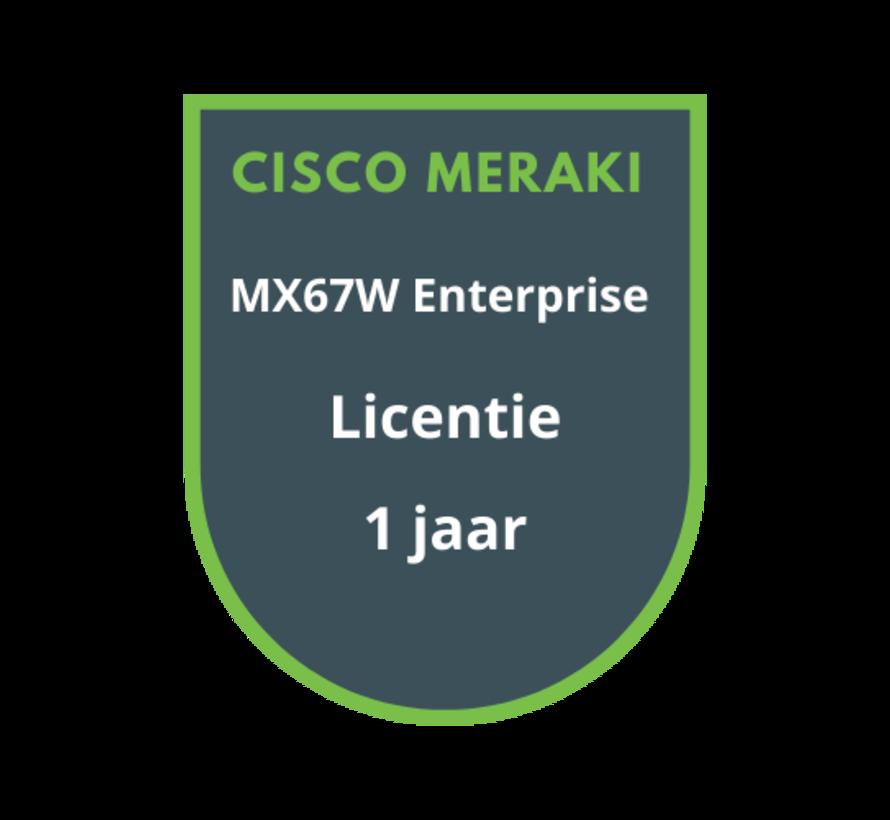 Cisco Meraki MX67W Enterprise Licentie 1 jaar