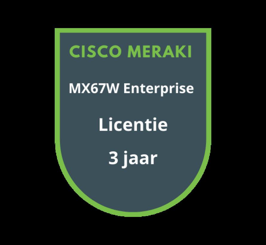 Cisco Meraki MX67W Enterprise Licentie 3 jaar