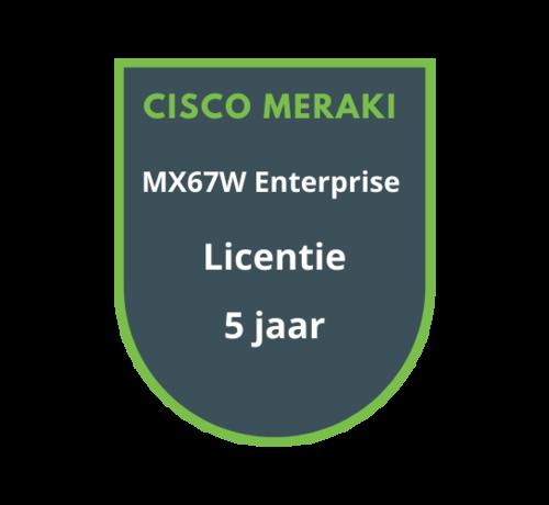 Cisco Meraki Cisco Meraki MX67W Enterprise Licentie 5 jaar