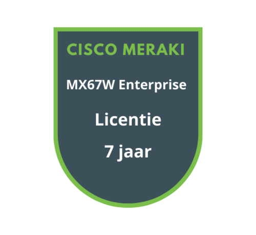 Cisco Meraki Cisco Meraki MX67W Enterprise Licentie 7 jaar