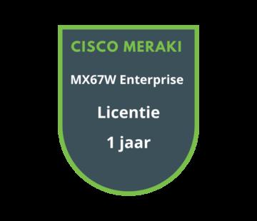 Cisco Meraki Cisco Meraki MX67W Advanced Security Licentie 1 jaar