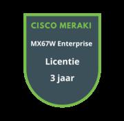 Cisco Meraki Cisco Meraki MX67W Advanced Security Licentie 3 jaar