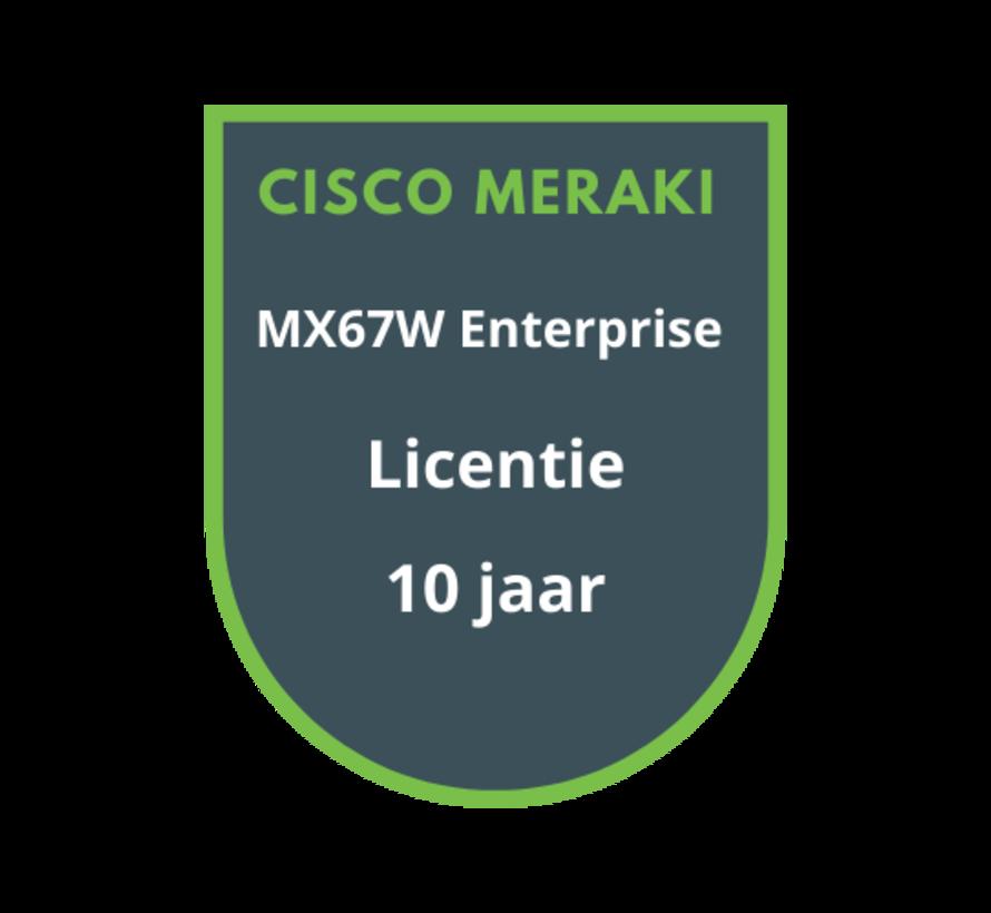 Cisco Meraki MX67W Advanced Security Licentie 10 jaar