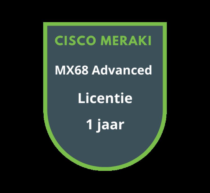 Cisco Meraki MX68 Advanced Security Licentie 1 jaar