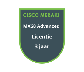Cisco Meraki Cisco Meraki MX68 Advanced Security Licentie 3 jaar