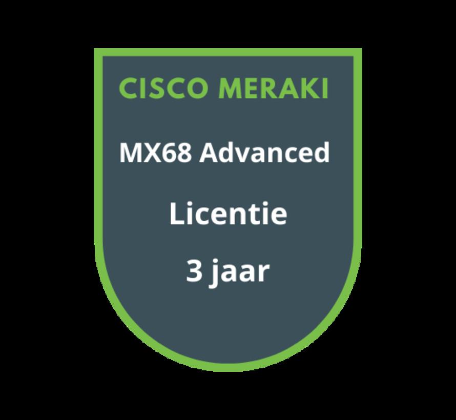 Cisco Meraki MX68 Advanced Security Licentie 3 jaar