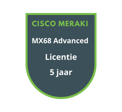 Cisco Meraki Cisco Meraki MX68 Advanced Security Licentie 5 jaar