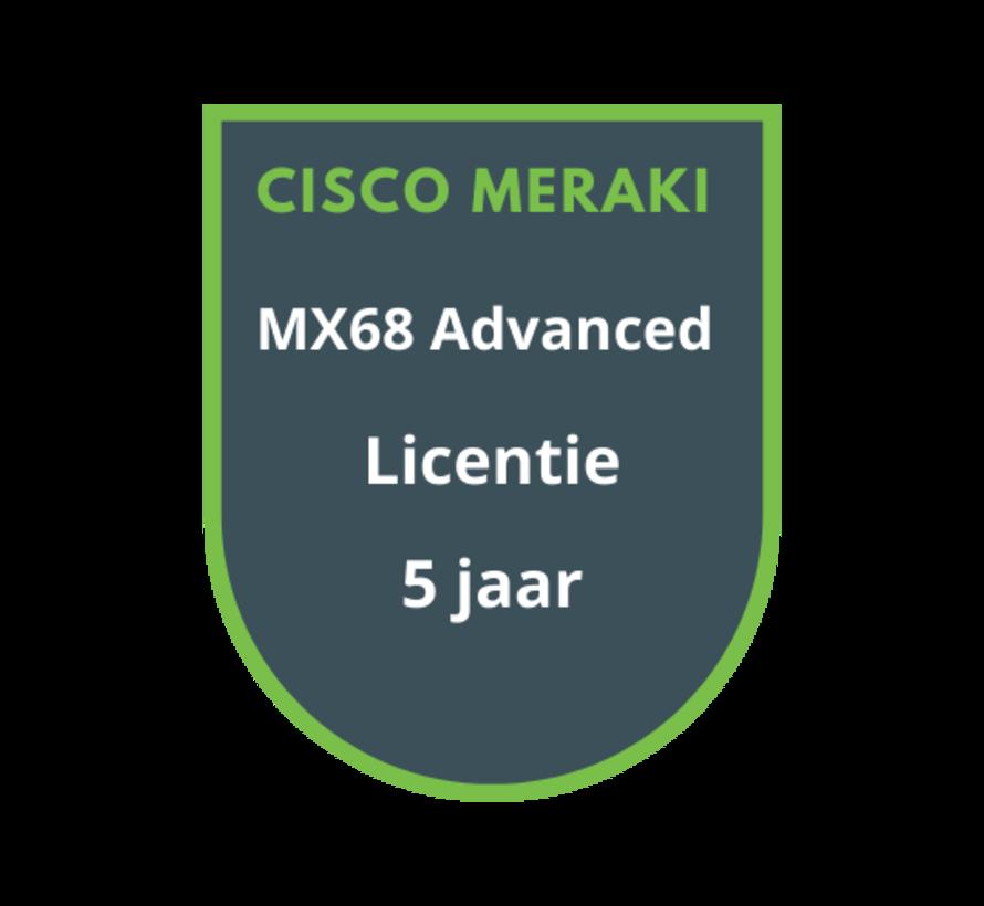 Cisco Meraki MX68 Advanced Security Licentie 5 jaar
