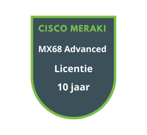 Cisco Meraki Cisco Meraki MX68 Advanced Security Licentie 10 jaar