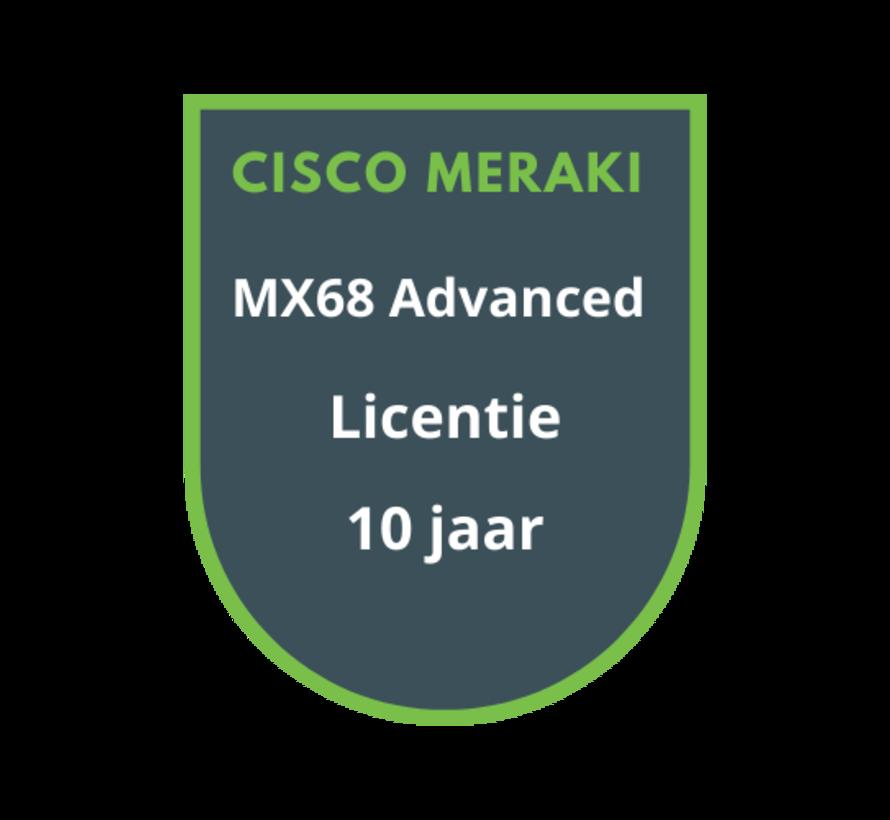 Cisco Meraki MX68 Advanced Security Licentie 10 jaar