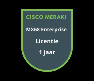 Cisco Meraki Cisco Meraki MX68 Enterprise Licentie 1 jaar