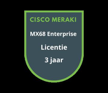 Cisco Meraki Cisco Meraki MX68 Enterprise Licentie 3 jaar