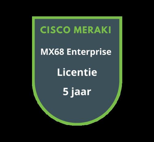 Cisco Meraki Cisco Meraki MX68 Enterprise Licentie 5 jaar