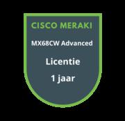 Cisco Meraki Cisco Meraki MX68CW Advanced Security Licentie 1 jaar