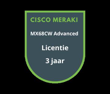 Cisco Meraki Cisco Meraki MX68CW Advanced Security Licentie 3 jaar