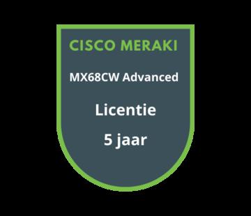 Cisco Meraki Cisco Meraki MX68CW Advanced Security Licentie 5 jaar