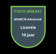 Cisco Meraki Cisco Meraki MX68CW Advanced Security Licentie 10 jaar