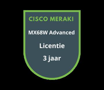 Cisco Meraki Cisco Meraki MX68W Advanced Security Licentie 3 jaar