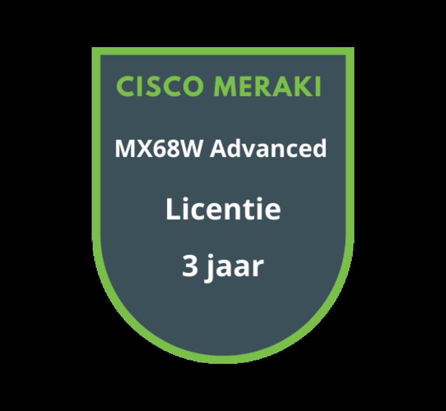 Cisco Meraki MX68W Advanced Security Licentie 3 jaar