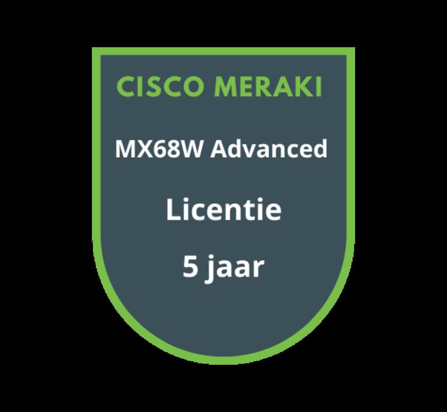 Cisco Meraki MX68W Advanced Security Licentie 5 jaar