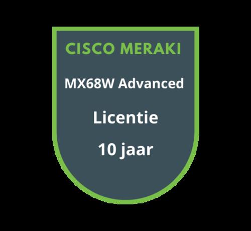 Cisco Meraki Cisco Meraki MX68W Advanced Security Licentie 10 jaar