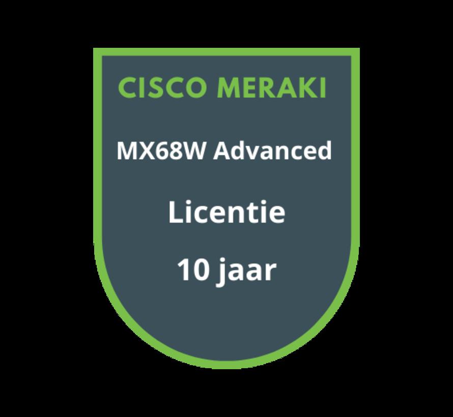 Cisco Meraki MX68W Advanced Security Licentie 10 jaar