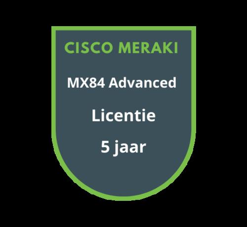Cisco Meraki Cisco Meraki MX84 Advanced Security Licentie 5 jaar