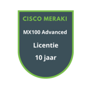 Cisco Meraki Cisco Meraki MX100 Advanced Security Licentie 10 jaar