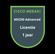 Cisco Meraki Cisco Meraki MX250 Advanced Security Licentie 1 jaar