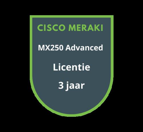 Cisco Meraki Cisco Meraki MX250 Advanced Security Licentie 3 jaar