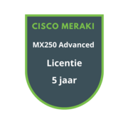 Cisco Meraki Cisco Meraki MX250 Advanced Security Licentie 5 jaar