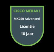 Cisco Meraki Cisco Meraki MX250 Advanced Security Licentie 10 jaar