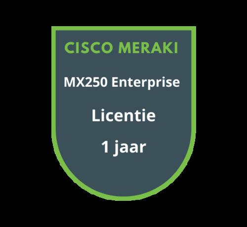 Cisco Meraki Cisco Meraki MX250 Enterprise Licentie 1 jaar