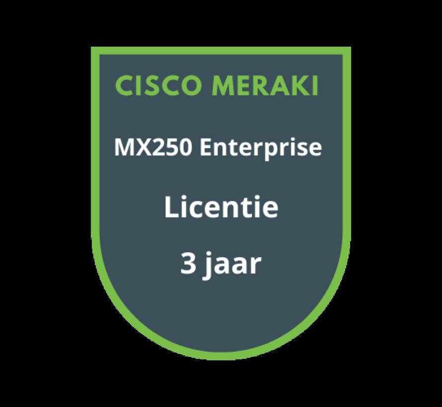 Cisco Meraki MX250 Enterprise Licentie 3 jaar