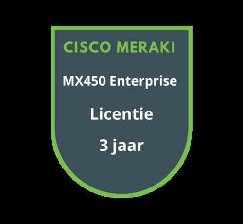 Cisco Meraki Cisco Meraki MX450 Enterprise Licentie 3 jaar