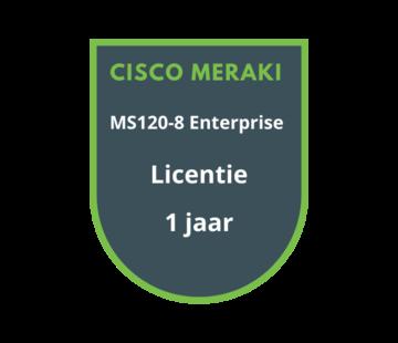 Cisco Meraki Cisco Meraki MS120-8 Enterprise Licentie 1 jaar