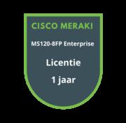 Cisco Meraki Cisco Meraki MS120-8FP Enterprise Licentie 1 jaar