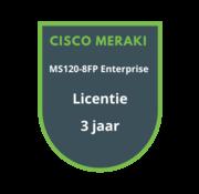 Cisco Meraki Cisco Meraki MS120-8FP Enterprise Licentie 3 jaar