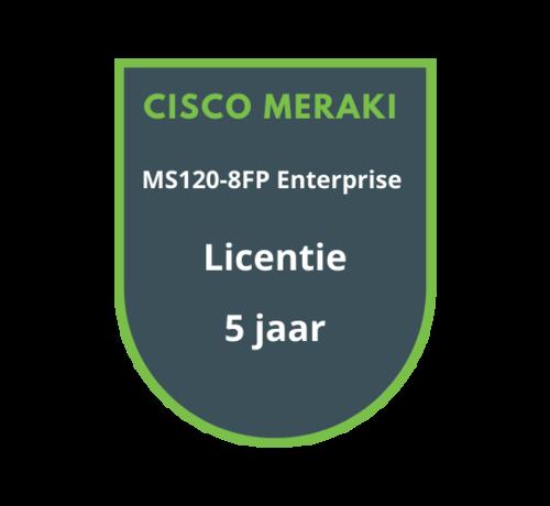 Cisco Meraki Cisco Meraki MS120-8FP Enterprise Licentie 5 jaar