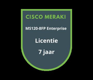 Cisco Meraki Cisco Meraki MS120-8FP Enterprise Licentie 7 jaar