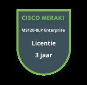Cisco Meraki Cisco Meraki MS120-8LP Enterprise Licentie 3 jaar