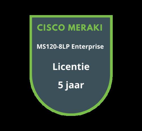 Cisco Meraki Cisco Meraki MS120-8LP Enterprise Licentie 5 jaar