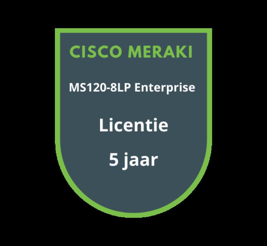 Cisco Meraki MS120-8LP Enterprise Licentie 5 jaar