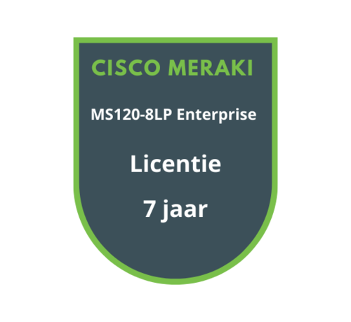 Cisco Meraki Cisco Meraki MS120-8LP Enterprise Licentie 7 jaar