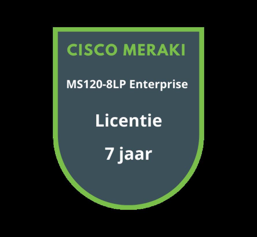 Cisco Meraki MS120-8LP Enterprise Licentie 7 jaar