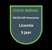 Cisco Meraki Cisco Meraki MS120-24P Enterprise Licentie 5 jaar