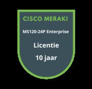 Cisco Meraki Cisco Meraki MS120-24P Enterprise Licentie 10 jaar